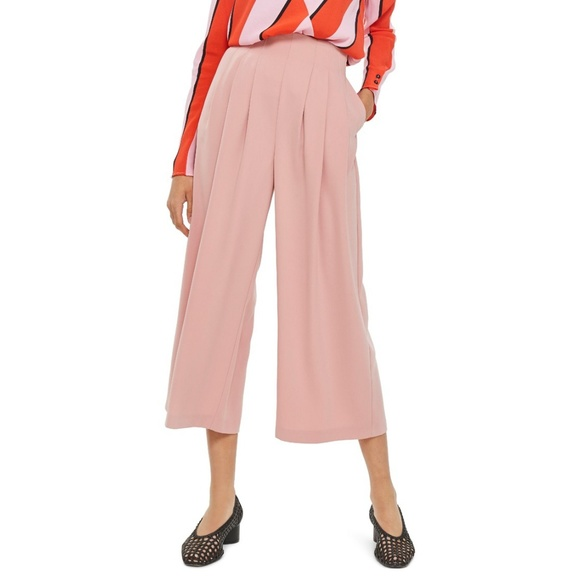 new list new authentic best prices Topshop Ivy Crop Wide Leg Trousers High Waist D2 NWT